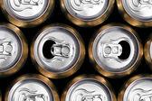 Muchas latas de bebida — Foto de Stock