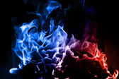 Blaue und rote Flamme — Stockfoto