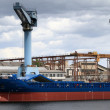 Cargo ship, containers and crane — Stock Photo