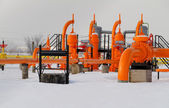 Orange gas pipe — Stock Photo