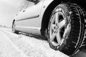 Winter tyre — Stock Photo