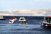 Small motorboats — Stock Photo