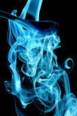 Turquoise smoke — Stock Photo