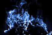 Blue flame — Stockfoto