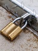 A padlock on an iron door — Stock Photo