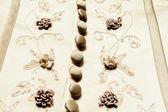 Detail of wedding dress — Stock Photo
