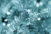 мишура. рождественские украшения. — Стоковое фото