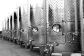 Modern aluminum barrels — Stock Photo