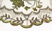 Green textile background — Stock Photo