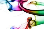 Multicolored smoke — Stock Photo