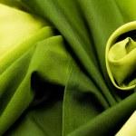 Green satin textile — Stock Photo #39848939