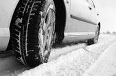 Pneus de inverno — Fotografia Stock