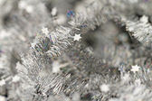 Tinsel. Christmas decoration. — Fotografia Stock