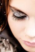 Party makeup — Zdjęcie stockowe