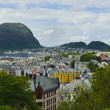 Stock Photo: View from mountain Akslat city of Alesund , Norway