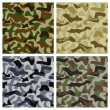 Set of Camouflage Patterns — Stock Vector