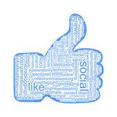 Nube de etiquetas sociales — Vector de stock