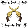 Gold Crossed Guns — Stock Vector #12868789