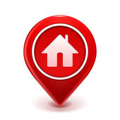 Home Icon Pin — Vettoriale Stock
