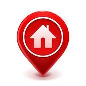 Pin icono casa — Vector de stock
