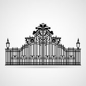 Ornamental Gate — Stock Vector