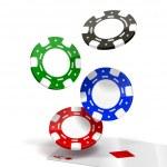 Falling Poker Chips — Stock Vector #13607813