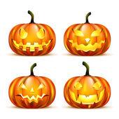 Jack Lantern Pumpkins — Stock Vector