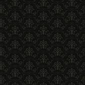 黒シームレスな花柄 — ストックベクタ