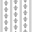 Royalty-Free Stock Vector Image: Monochrome seamless classic pattern