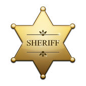 Golden Sheriff Star — Stock Vector