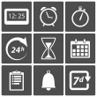Stock Vector: Clock and time icons