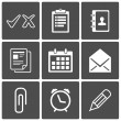 Office icons - Stock Vector