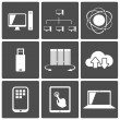 Stock Vector: Network and Mobile Connections Icons