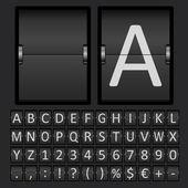 Alfabet litery i liczby wyników — Wektor stockowy