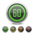 Digital Countdown Timer — Image vectorielle