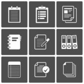 Documents Icons Notepad paper — Stock Vector