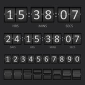 Scoreboard Countdown Timer — Stock Vector