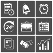 Stock Vector: Business Time icons