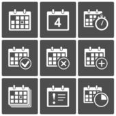 Calendar Icons set — Stock Vector
