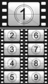 обратный отсчет фильма — Cтоковый вектор
