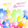 Aloha Hawaii Background - Stock Vector