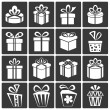 Gift Box Icons — Stock Vector