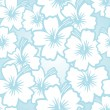 Hibiscus seamless floral pattern — Stock Vector