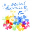 Aloha Hawaii Background — Stock Vector