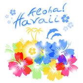 Aloha fundo de Havaí — Vetor de Stock