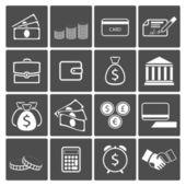 Money icons set — Stock Vector