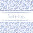 Stock vektor: Invitation card with floral background