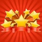 rote Sterne platzen Hintergrund — Stockvektor  #23625457