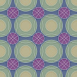 Vecteur: Seamless Ceramic Circles Background