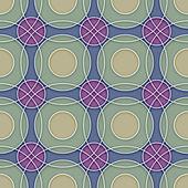 Seamless Ceramic Circles Background — Stock Vector